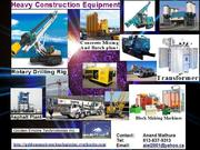 Heavy Construction Machinery and Equipment
